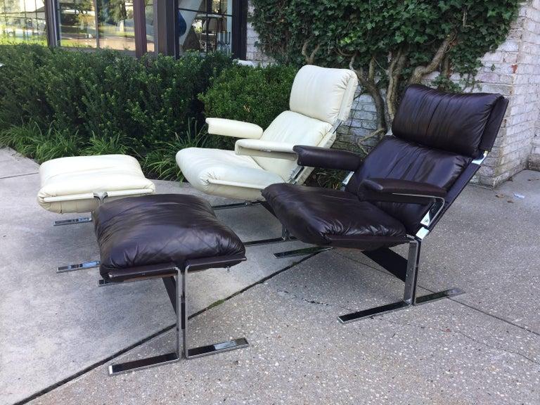 Saporiti Lounge Chair and Ottoman 7