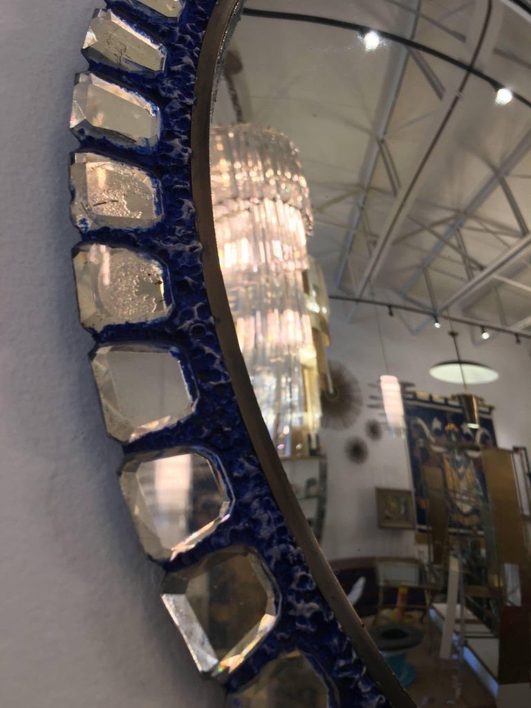 Line Vautrin Style Convex Mirror _SALE_ In Good Condition For Sale In East Hampton, NY