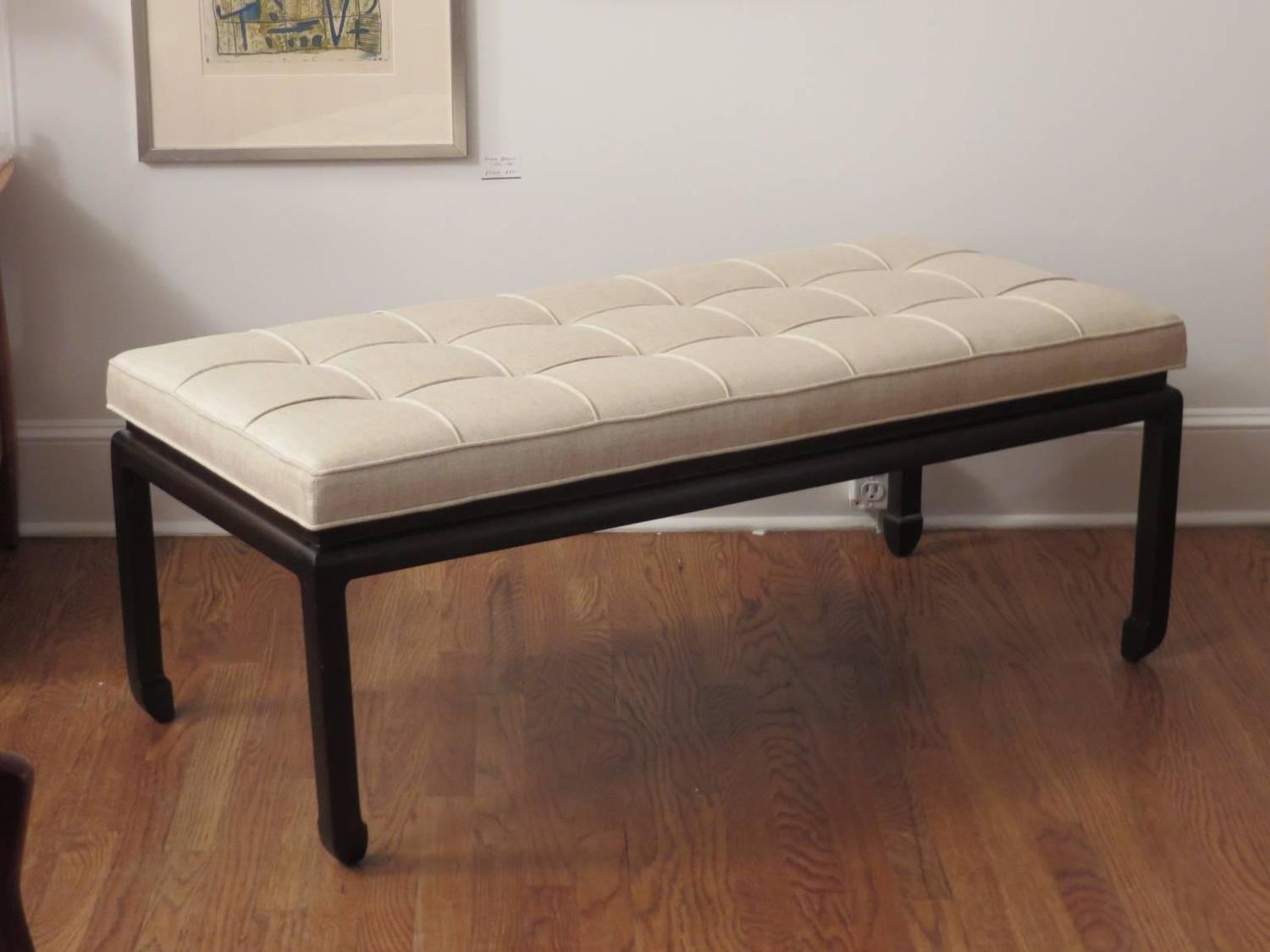 Asian Style Upholstered Bench For Sale At 1stdibs