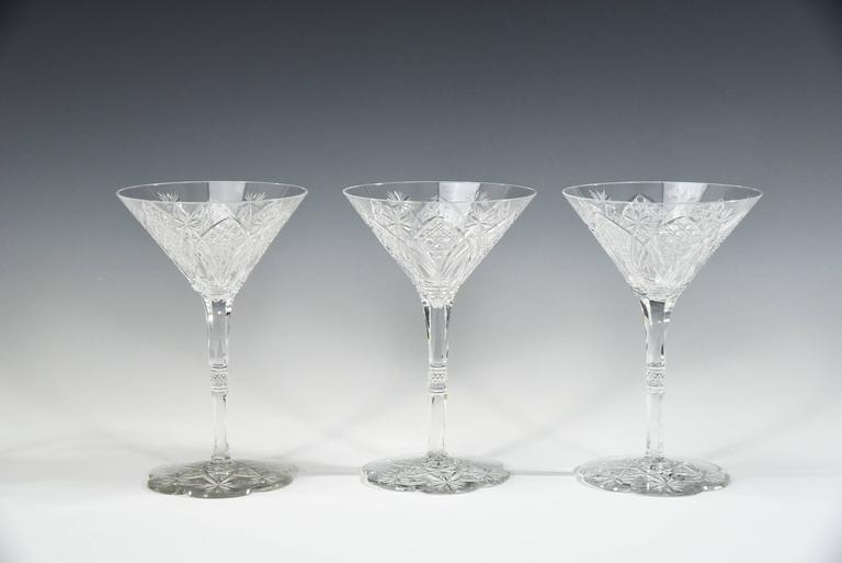 This amazing and rare Baccarat Elbeuf service was first introduced in 1908 and presented at the International Exhibition in Nancy, France in 1909. Specially ordered in 1920 by the Maharaja of Baroda, these are truly fit for a King!