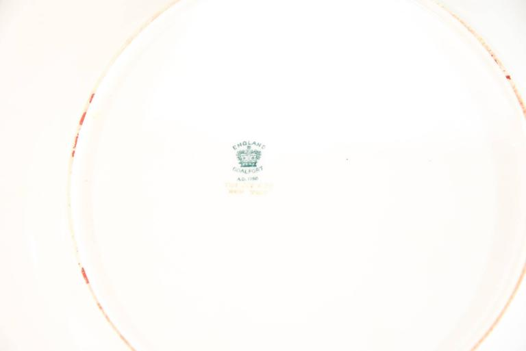 12 Coalport for Tiffany 1899 Gold, Ivory and Cobalt Blue Dinner Plates In Excellent Condition For Sale In Great Barrington, MA