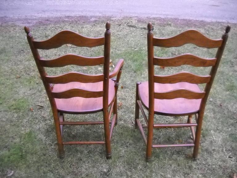 Cherry Deluxe Ladder Back Chairs For Sale