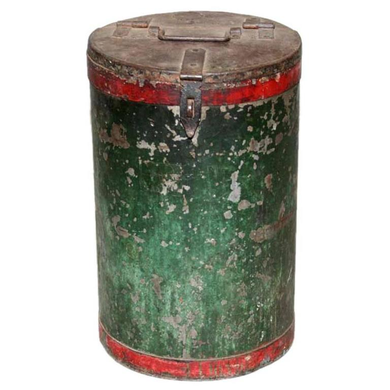 Vintage Grain Container from India 1
