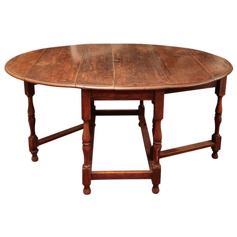 English Oak Gateleg Dining Table