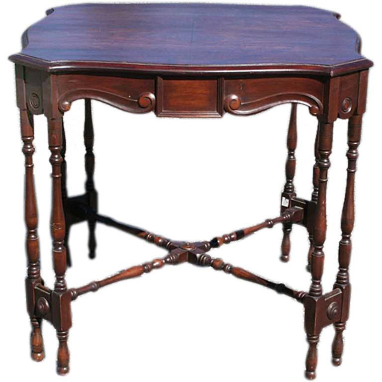 Mahogany Game Table 1