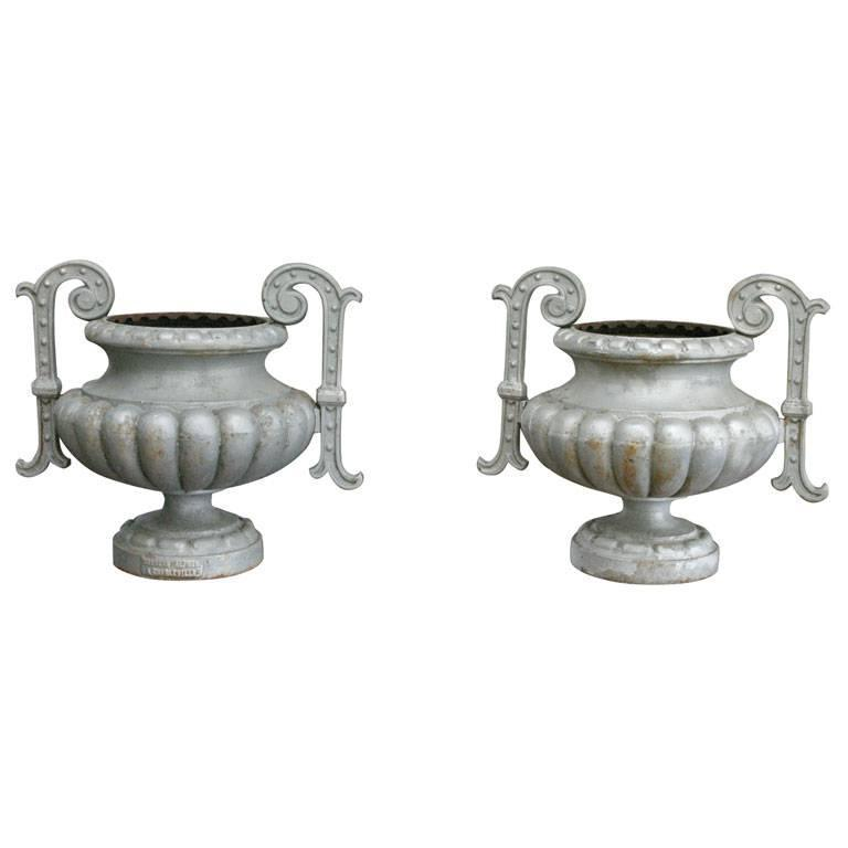 Pair of 19th Century French Garden Urn For Sale