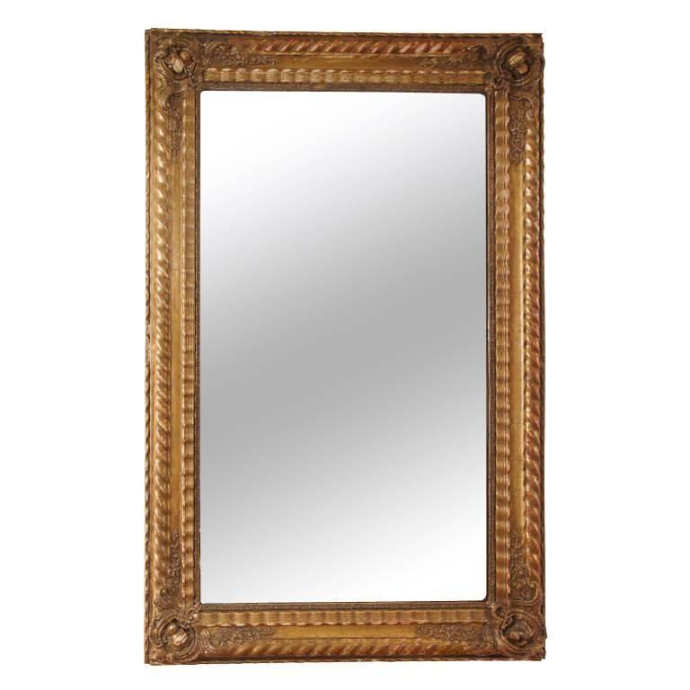 French Giltwood Mirror For Sale
