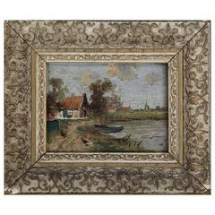 Miniature Continental Landscape Painting