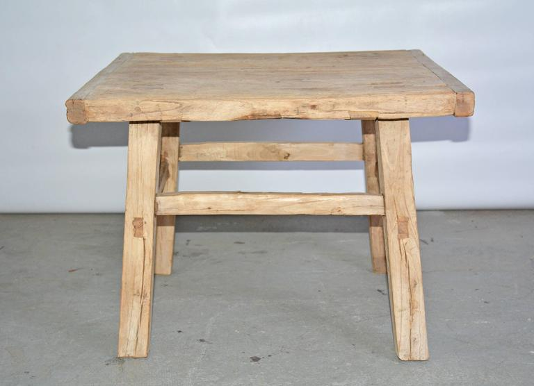 Rustic Teak Indoor Or Outdoor Coffee Table Or Seat For