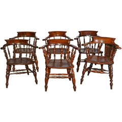 Set of Six English Captains Chairs