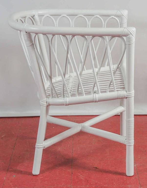 Set of Four Bentwood and Rattan Dining Chairs 4