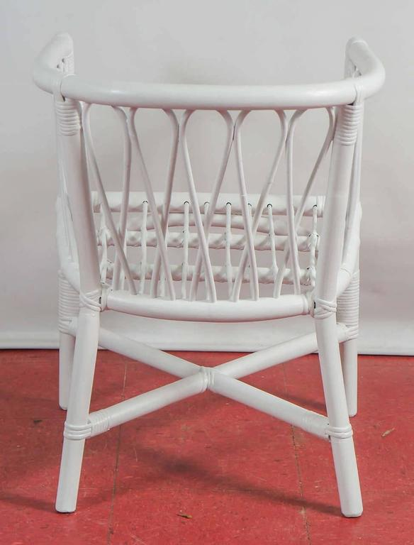 American Set of Four Bentwood and Rattan Dining Chairs For Sale