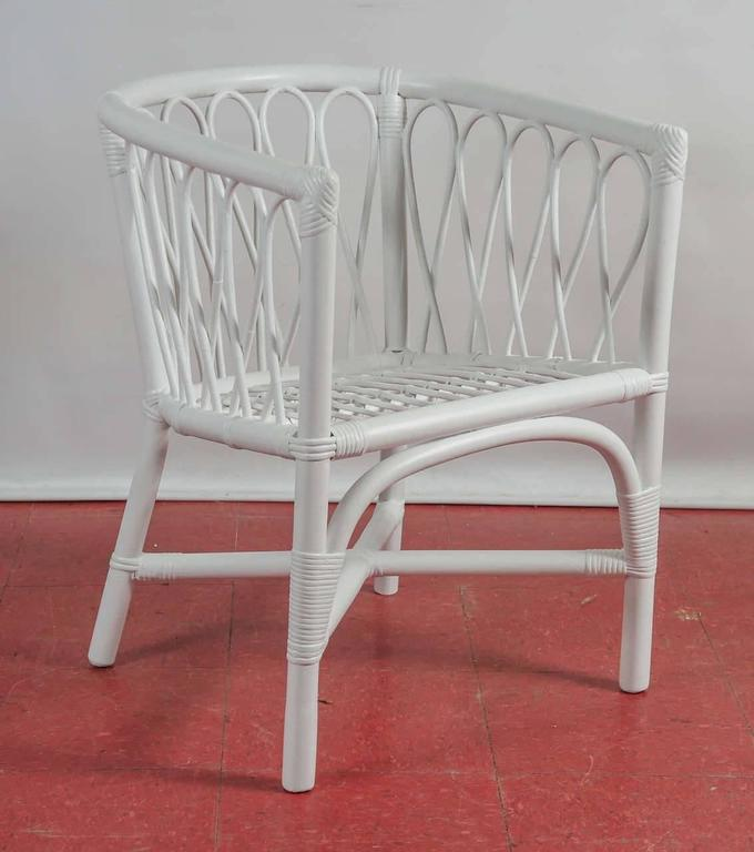 Set of Four Bentwood and Rattan Dining Chairs For Sale 1
