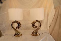 Pair of Vintage Brass Pierre Cardin Lamps
