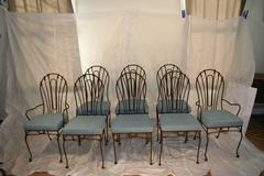 Set of Eight Indoor or Outdoor Wrought Iron Chairs