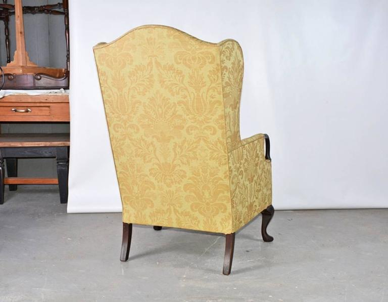 American Vintage Wingback Armchair For Sale