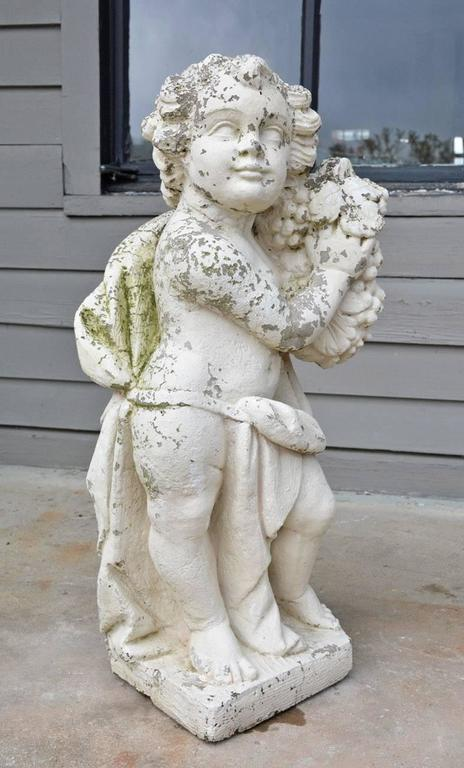 Victorian Garden Stone Putti 2