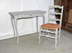 Vintage Country French Dressing Table and Chair
