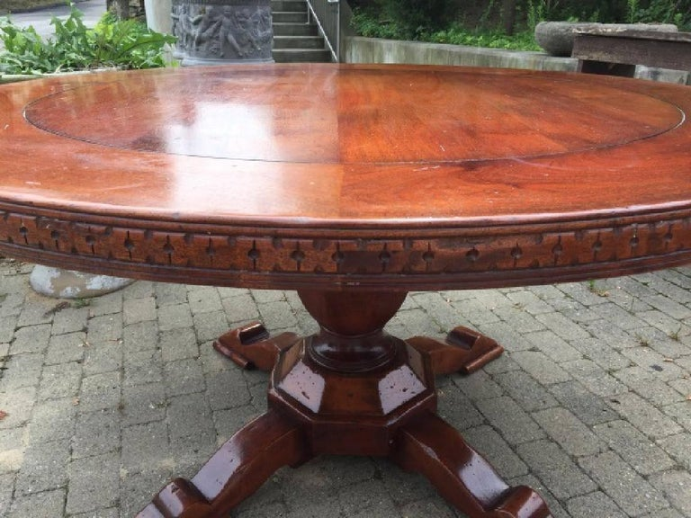 Vintage Round Pedestal Dining or Conference Table 2