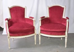Pair of Vintage Louis XVI-Style Bergere Chairs