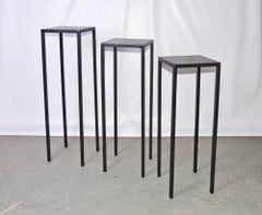 Custom Iron Display Stands of Varying Heights