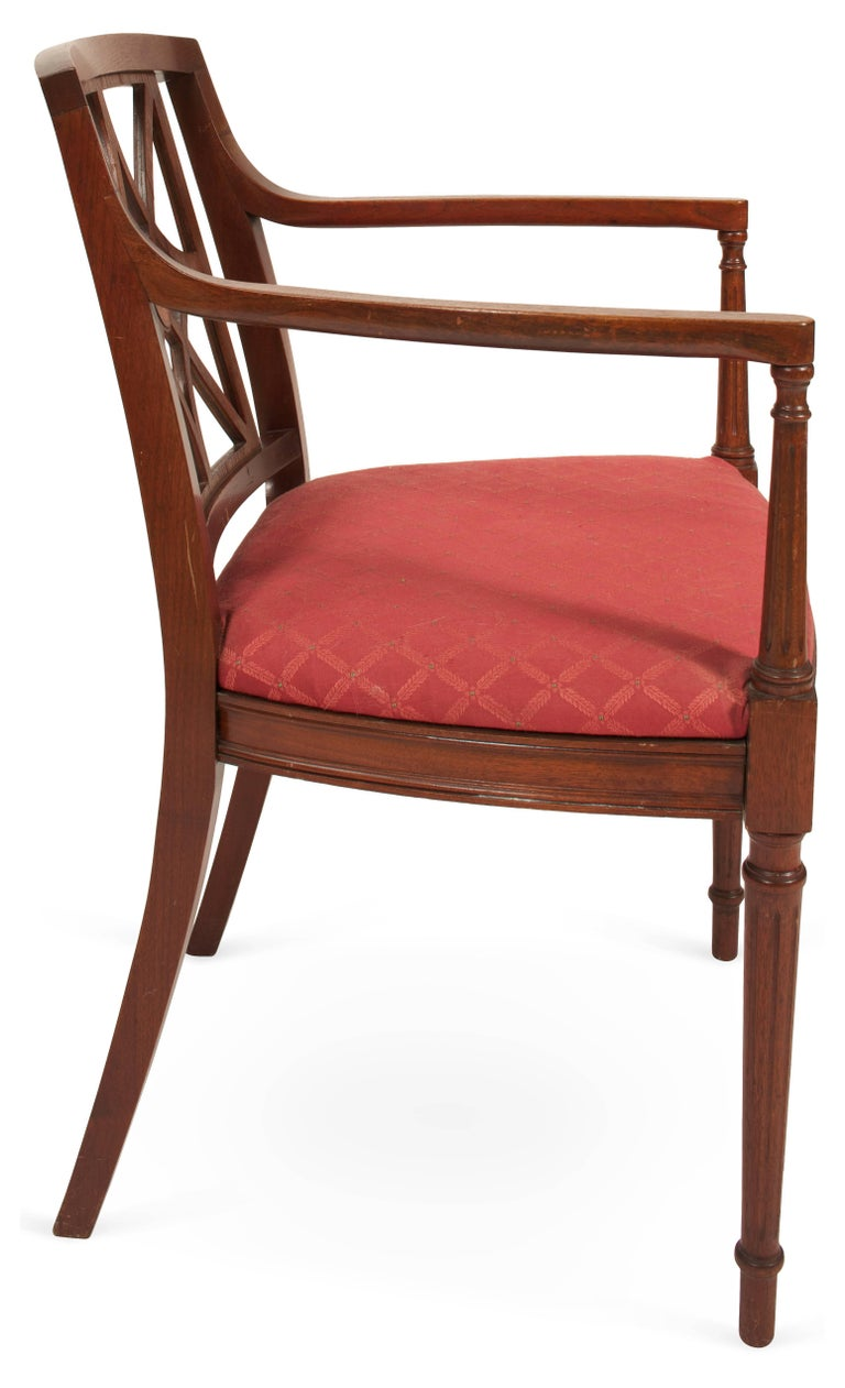 Sheraton Style Fretwork Armchair In Good Condition For Sale In Great Barrington, MA