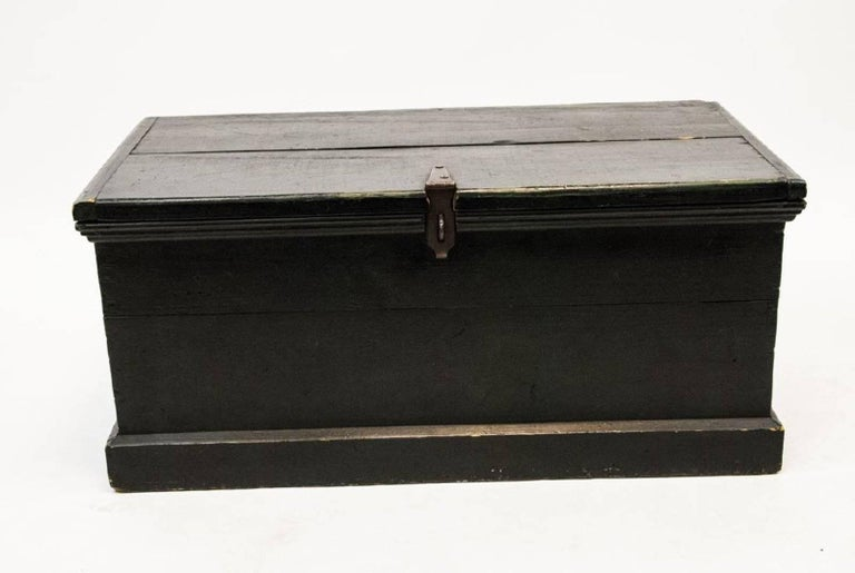 19th Century American chest or trunk with original hardware.  Can be used for storage or coffee table.