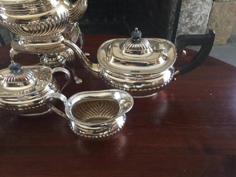 Regency Six-Piece Sheffield Silver Plate Coffee and Tea Service For Sale