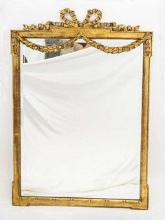 Vintage Neoclassical-Style La Barge USA Giltwood Mirror
