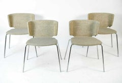 Four Steelcase Coalesse Wrapp Side Chairs