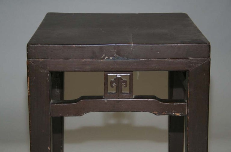 Chinese Export Antique Chinese Side Table or Stool For Sale