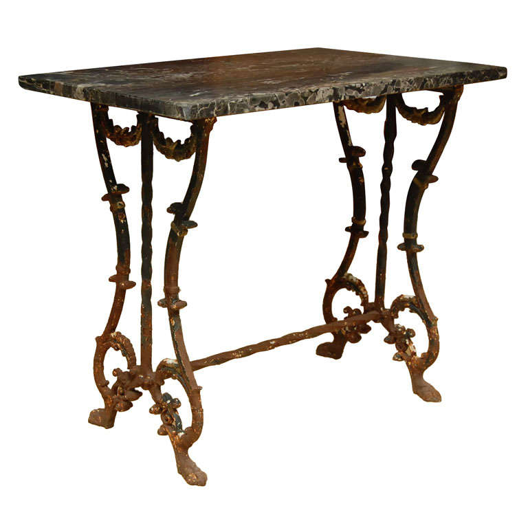French Baroque Style Bistro Side Table
