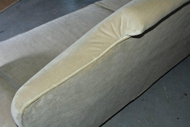 Mid-20th Century Regency Style Velvet Sofa For Sale 4
