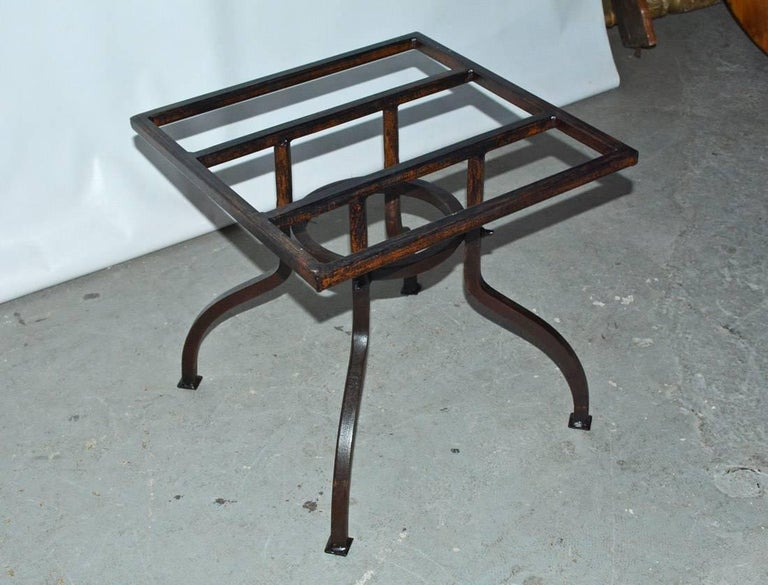 20th Century Round Cast Stone Top Metal Base Coffee Table For Sale