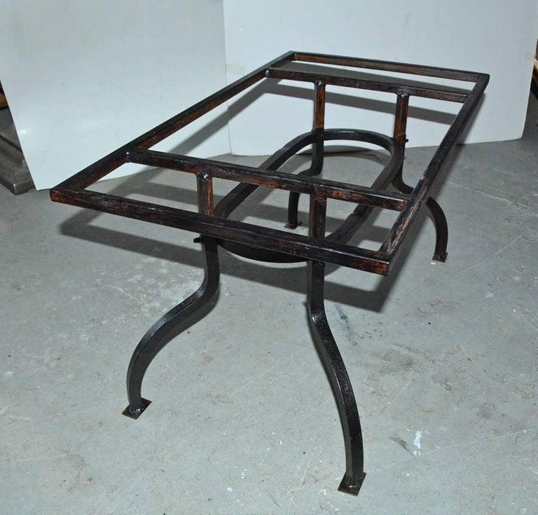 Cast Iron Metal Top Indoor or Outdoor Garden Coffee Table For Sale 1