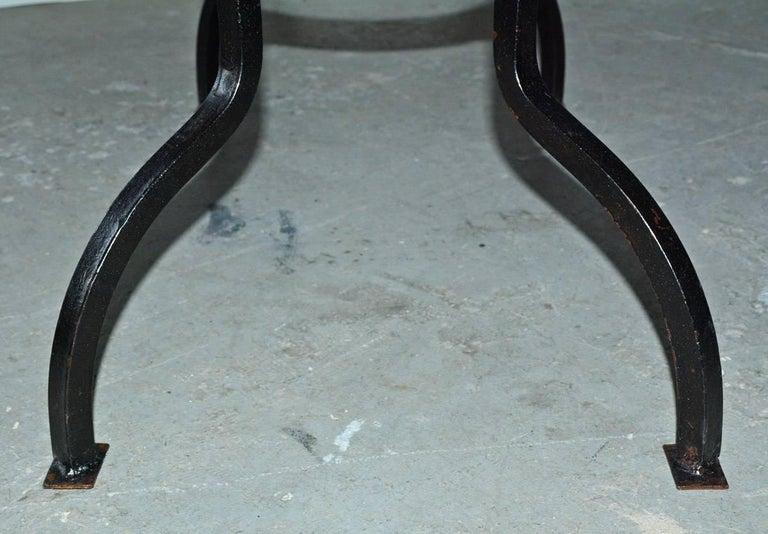 Cast Iron Metal Top Indoor or Outdoor Garden Coffee Table For Sale 3