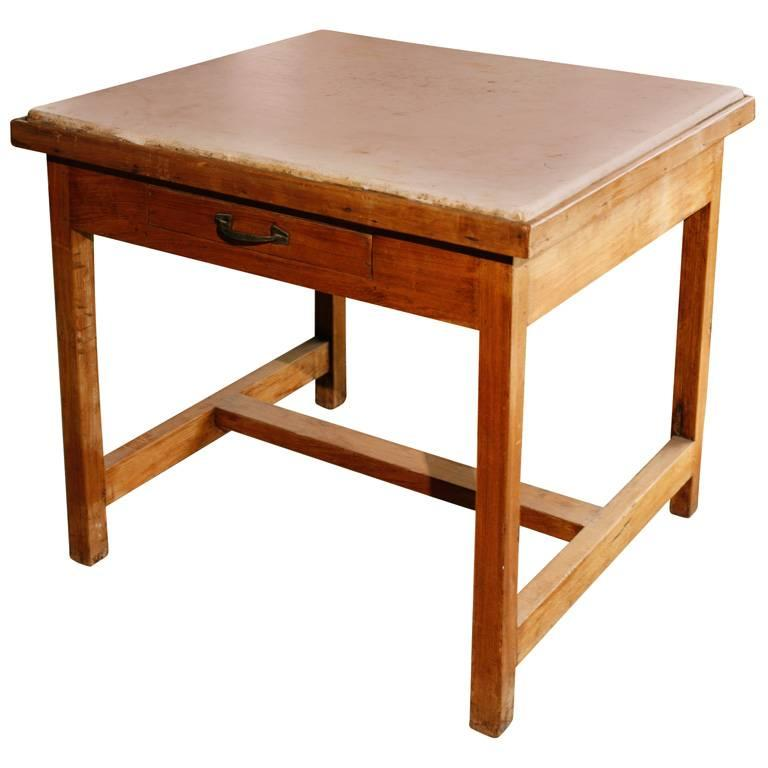 French Marble Top Baker S Work Table For