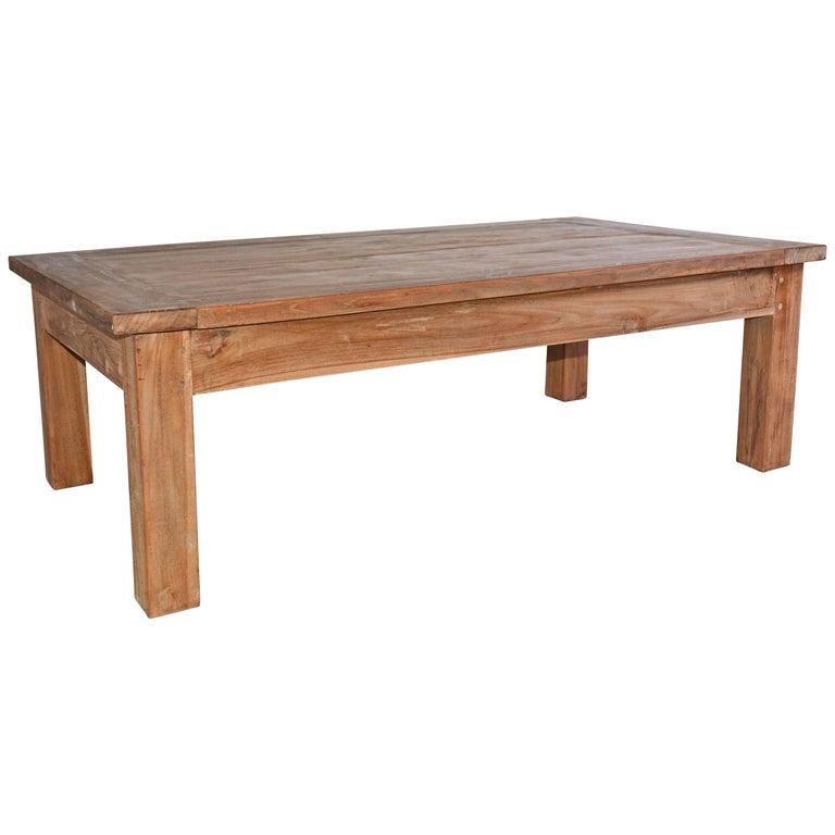 Rustic Indoor or Outdoor Teak Coffee Table