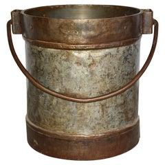 Antique Industrial Metal Bucket Table Base