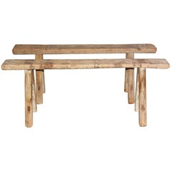 Rustic Antique Teak Bench-Sold Singly