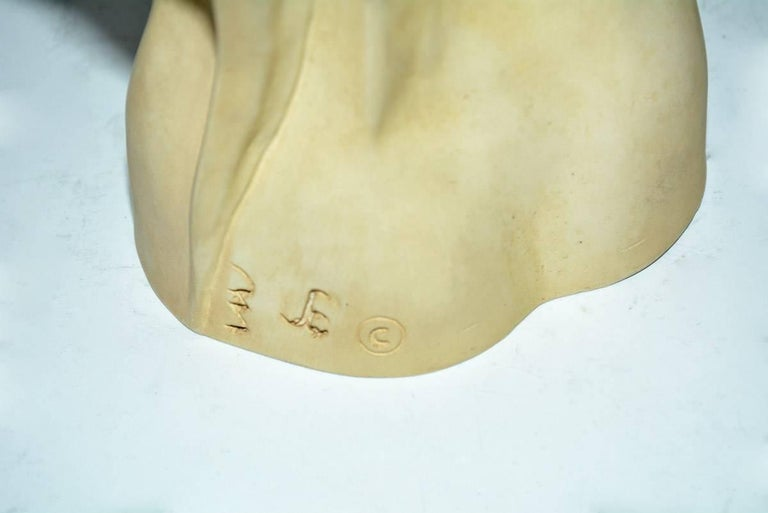20th Century Art Deco Plaster or Stone Sculpture of Sleeping Lady For Sale