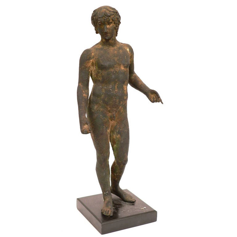 19th Century Classical Roman Style Bronze Sculpture For Sale
