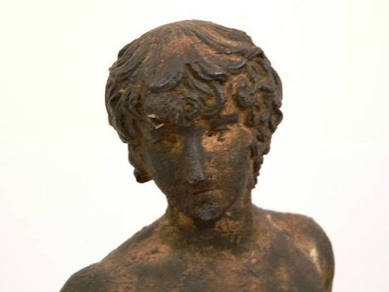 Classical bronze figure in the Greek style. Wonderful aged patina.