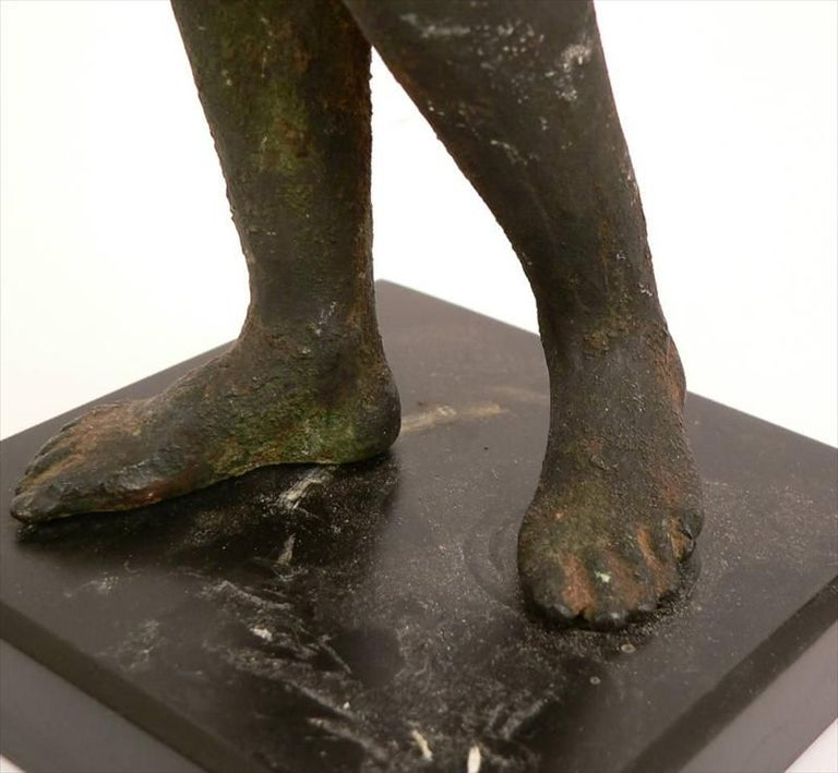 19th Century Classical Roman Style Bronze Sculpture For Sale 4