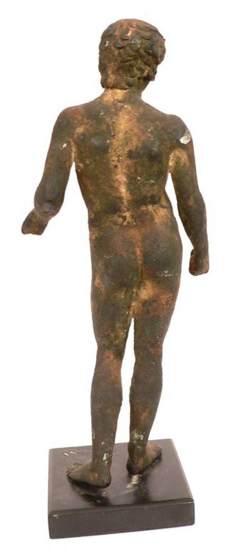 19th Century Classical Roman Style Bronze Sculpture For Sale 5