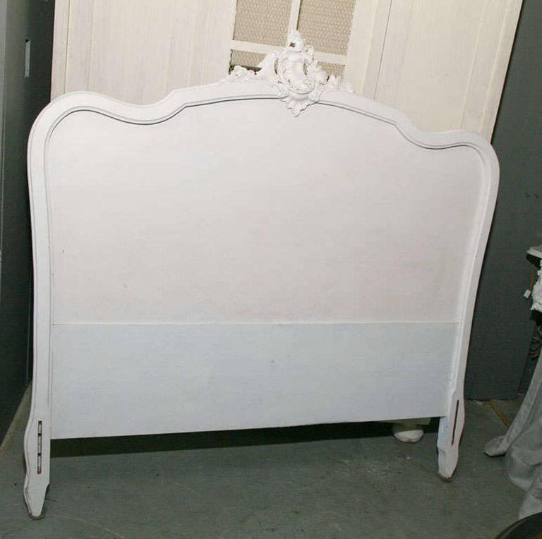 Baroque French Louis XV Rococo Style Painted Bed For Sale
