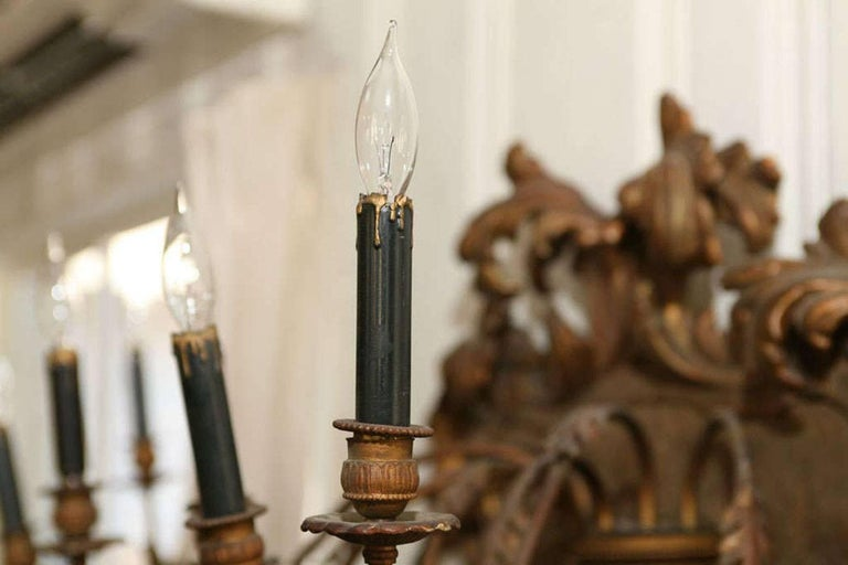 Carved 19th Century Italian Gold Gilt Venetian Wall Sconce For Sale