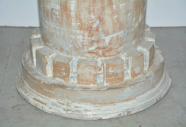 Unknown Antique Classical Style Column Wood Plinth For Sale