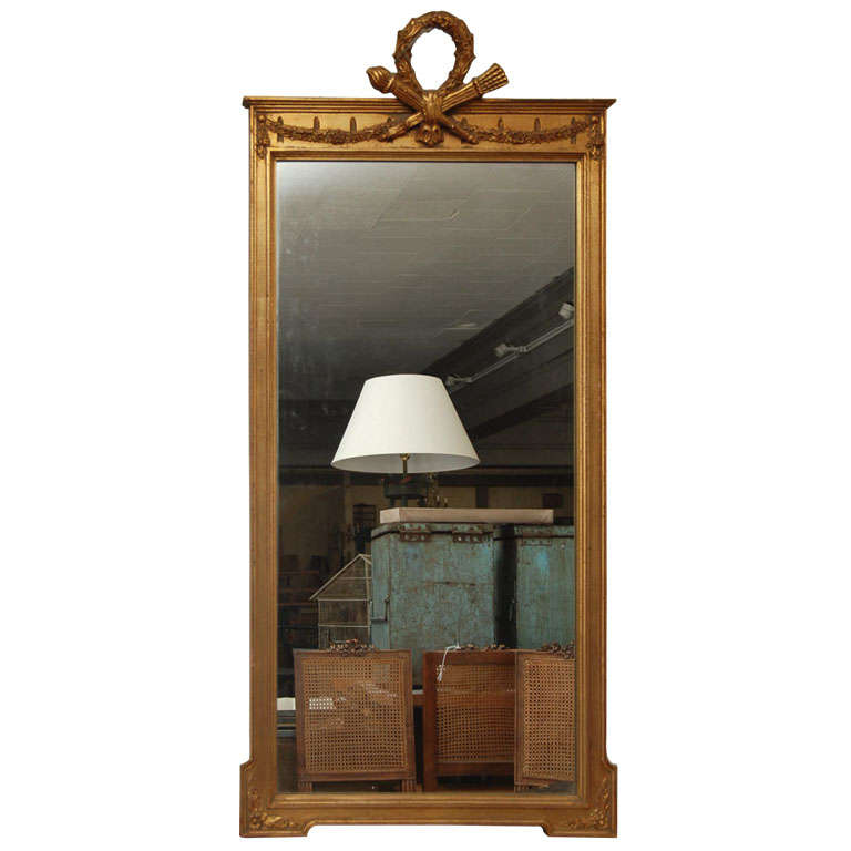 Gold gilt neoclassical mirror.