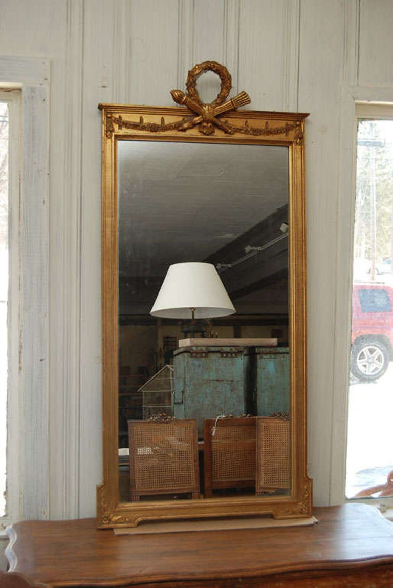 French Neoclassical Pier Mirror For Sale